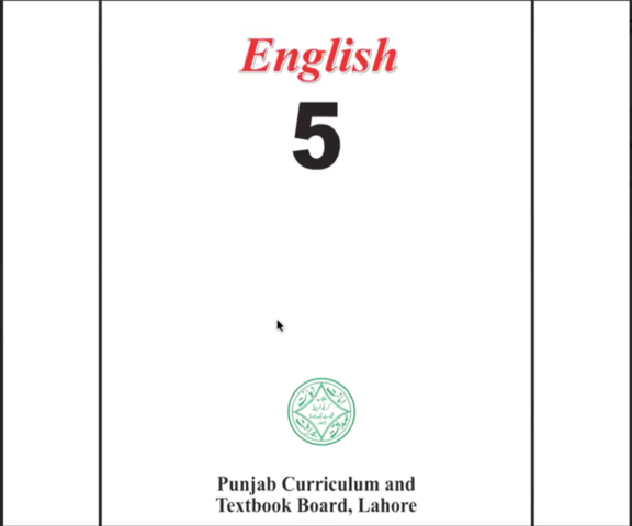 The existing English textbook being taught in Punjab for Grade V