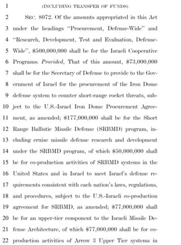 Screenshot taken of Section 8072 of the bipartisan coronavirus relief bill.