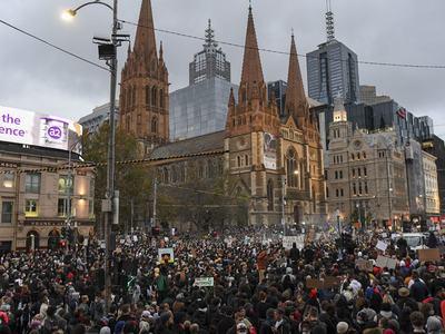 Defiant Australians protest racial injustice despite warnings