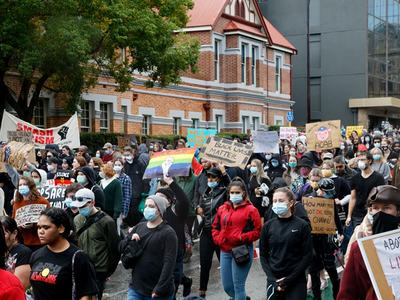 Thousands march for racial justice in Australia