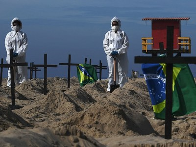 Brazil now second in virus deaths, as US states see rising cases