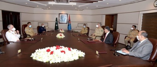 Armed forces chiefs visit ISI headquarters