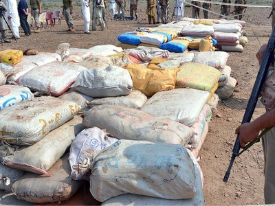 Huge quantity of hashish seized