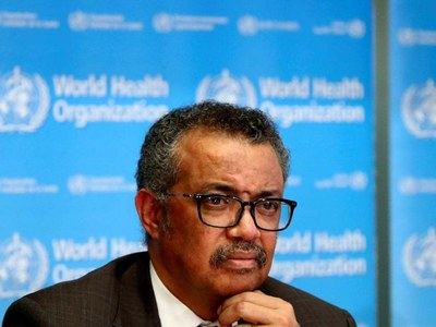 Coronavirus pandemic still accelerating: WHO chief