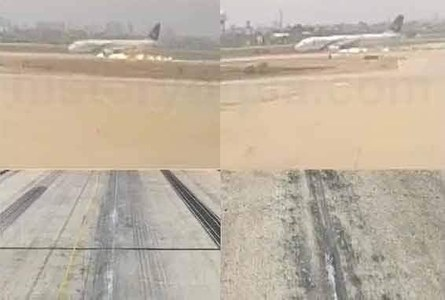 CCTV footage from ATC shows PK-8303's landing gear was not down