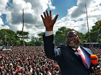 Chakwera sworn in as Malawi's president