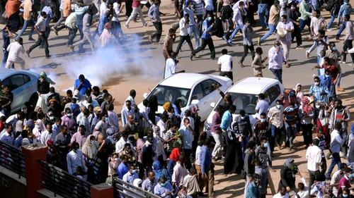 Protesters hit Sudan streets