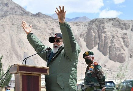 Narendra Modi visits border where troops clashed with China