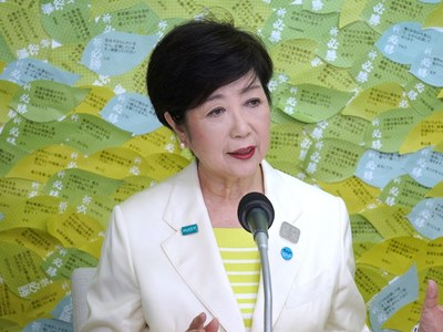 Tokyo governor Koike cruises to second term