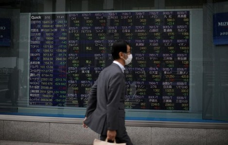 Asian shares waver with coronavirus, corporate earnings in focus