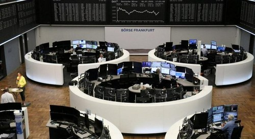 European shares slip as virus cases surge; HSBC, Nokia slump
