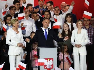 Poland's populist president narrowly wins re-election