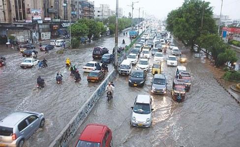 Monsoon rain hits Karachi, disrupts power supply