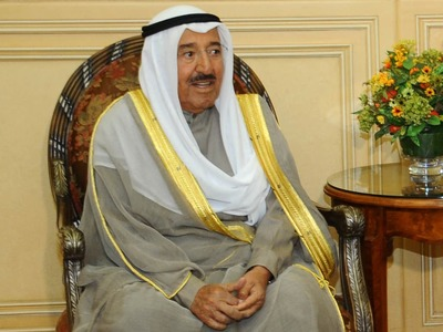 Kuwait's emir arrives in the US for medical treatment, in stable condition