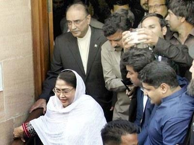 Accountability court once again defers indictment of Zardari, Talpur