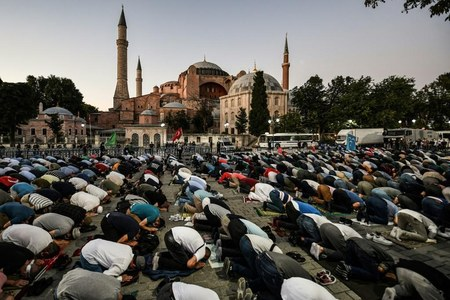Hagia Sophia holds first Friday prayers in 86 years