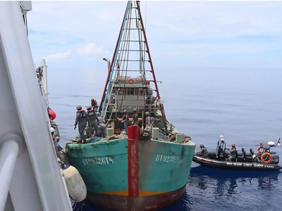 Indonesia says detains Vietnam boat with two tonnes of fish