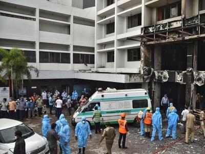 Blaze kills at least 10 in Indian coronavirus centre