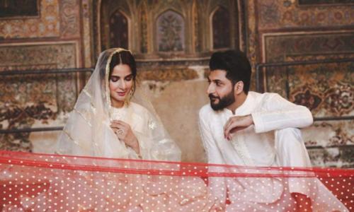 Saba Qamar and Bilal Saeed apologise for 'misunderstood' video shot at Wazir Khan Mosque