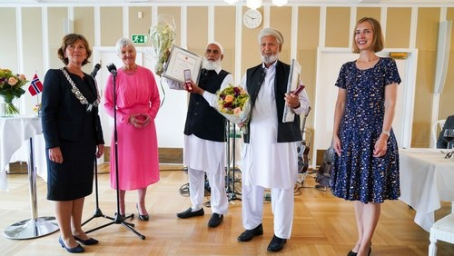 Norway presents medals to Rafiq, Iqbal on one-year anniversary of Al-Noor mosque terror attack