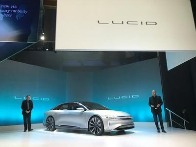 Lucid says its new electric sedan is first EV with 500-mile range