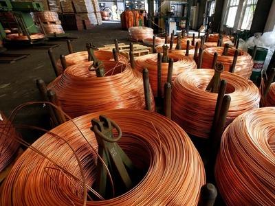 Copper slips on weak European factory data