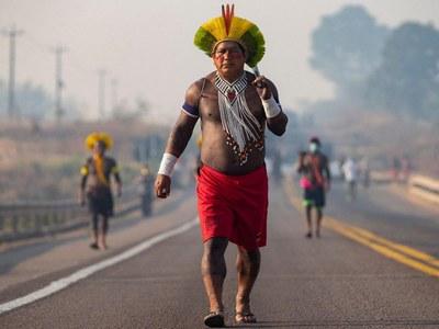 Brazil indigenous protesters demand help against virus
