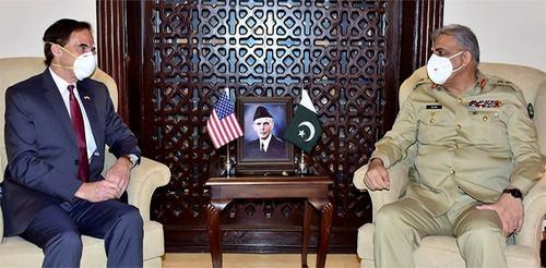 Outgoing US ambassador meets COAS, appreciates Pakistan's role in Afghan peace process