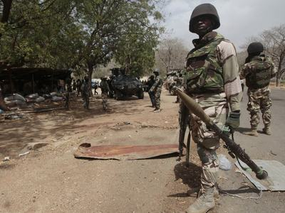 Nigerian army says 'in full control' of northeast town