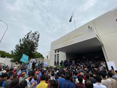 DHA, Clifton residents stage sit-in outside CBC office in Karachi