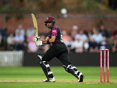 Babar sparks outrage by sporting alcohol logo on Somerset kit