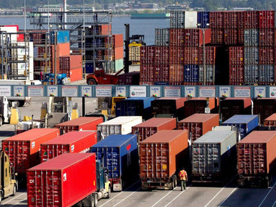 China's exports rise at fastest pace in nearly 1-1/2 years as economies reopen; imports slip
