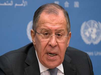 Russian FM Lavrov lands in Syria on rare visit