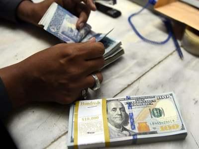Rupee falls 56 paisas against dollar