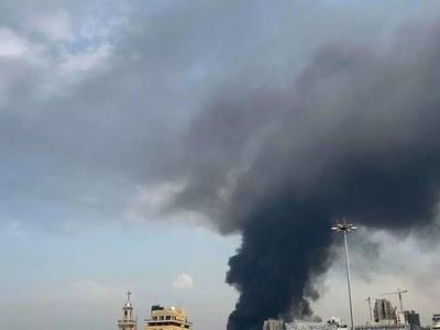 Huge fire at Beirut port weeks after deadly blast