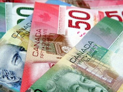 Canadian dollar rises to 2-week high as stock markets rally