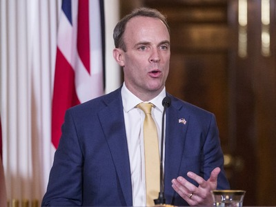 Britain stands with France, Germany over Navalny, Raab says