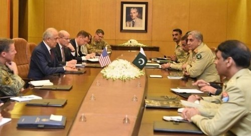 Khalilzad, Miller meet COAS Bajwa, appreciate Pakistan's positive role in Afghan peace process