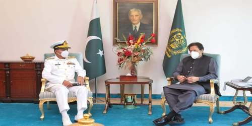 Naval Chief Admiral Amjad pays courtesy call on PM
