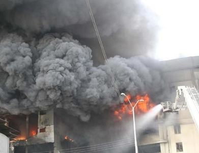 Fire breaks out at two factories in Landhi