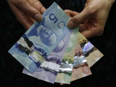 Canadian dollar strengthens as global risk aversion subsides