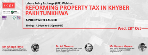 SEED Launches Policy Note for Property Tax Reform in KP