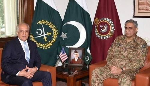 COAS Bajwa, Khalilzad discuss Afghan peace