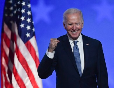 Biden says he expects to win the presidency