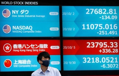 Asia shares near three-year high, bonds hold gains on U.S. gridlock bets