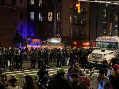 Police arrest 10 in Portland, 50 in New York on night after U.S. vote
