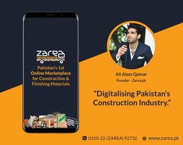 Zarea.pk digitalises the $30 billion Housing Construction Industry in Pakistan