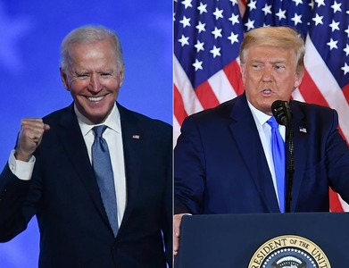 Trump and Biden protesters duel outside vote-counting centers in cliffhanger election