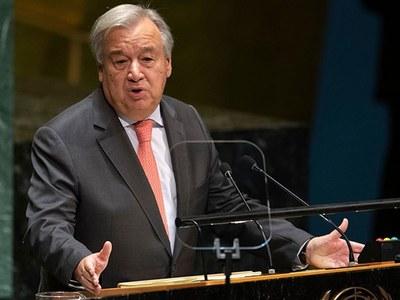 UN chief congratulates Biden, American people