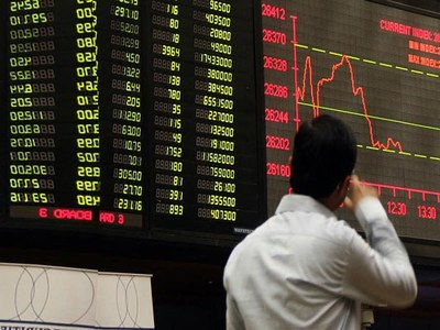 KSE100 Nosedives by over 800pts as Schools Close